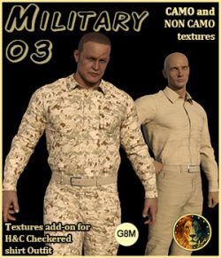 Military 03 for H&C Checkered Shirt Outfit for G8M
