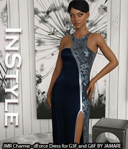 InStyle- JMR Charme- dForce Dress for G3F and G8F
