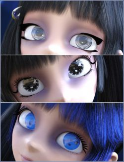 Dark Anime Eyes & Lashes for Genesis 8 Female(s)