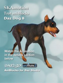 Daz Dog 8 Trot aniBlocks