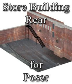 Store Building Rear - for Poser