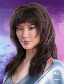 Layered Fringe Hair for Genesis 3 and 8 Female(s)