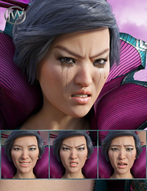 Brave Girl - Expressions for Genesis 8 Female and Mei Lin 8