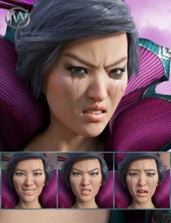 Brave Girl- Expressions for Genesis 8 Female and Mei Lin 8