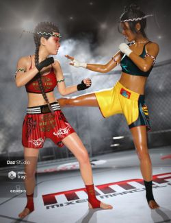 dForce Muay Thai Outfit Textures