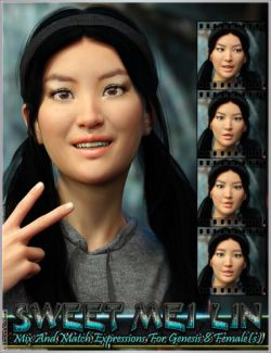 Sweet Mei Lin Expressions for Genesis 8 Female(s)