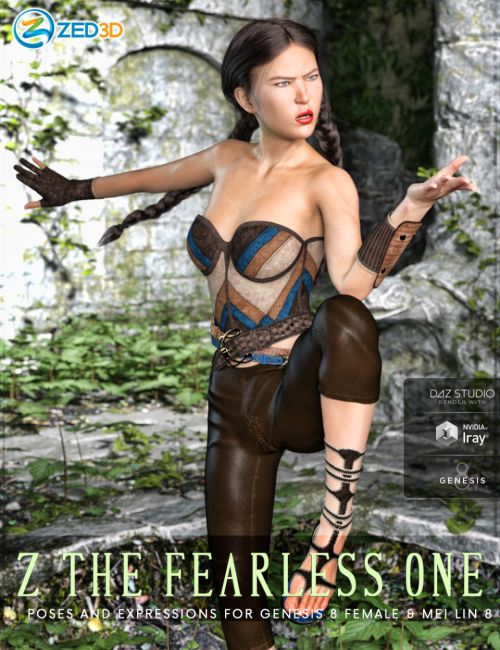 Z The Fearless One - Poses and Expressions for Mei Lin 8 and Genesis 8 Female