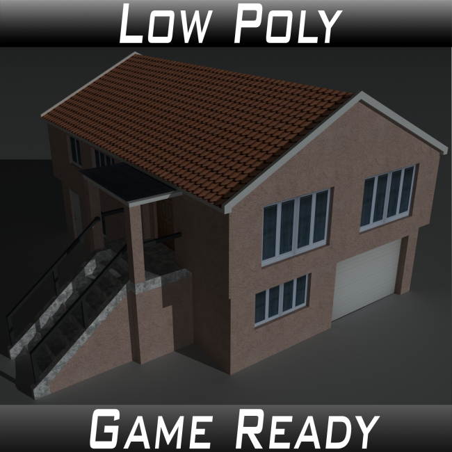 Low Poly House 3 - Extended Licence