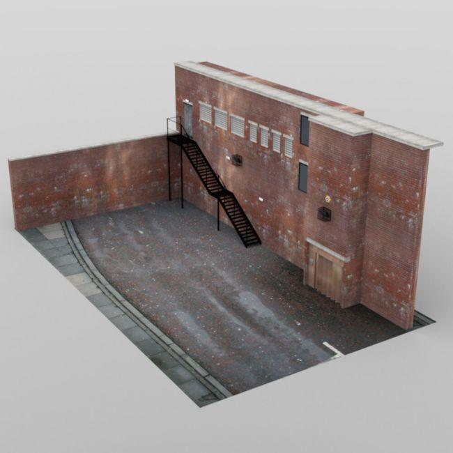 Store Building Rear - for DAZ Studio