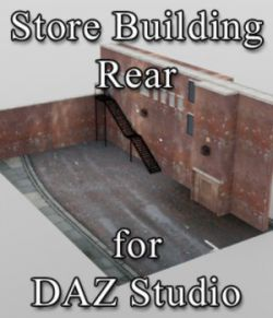 Store Building Rear - for DAZ Studio