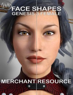 Face Shape Merchant Resource for Genesis 3 Female