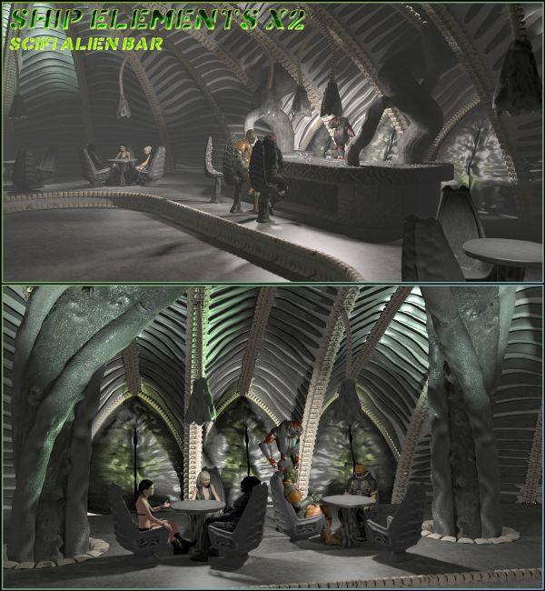 Ship Elements X2: SciFi Alien Bar