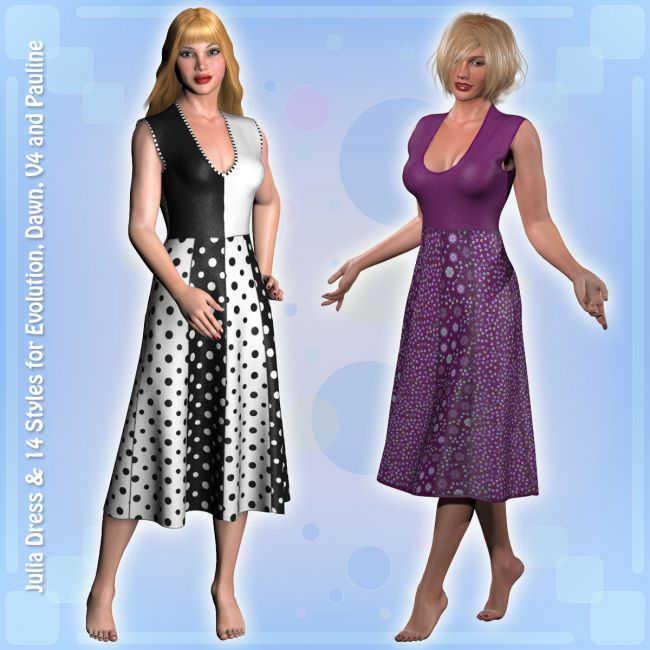 Julia Dress and 14 Styles for PE, V4, Dawn and Pauline