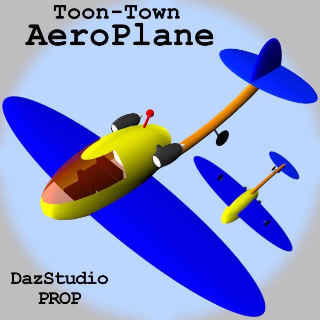 Toon-Town AeroPlane for Daz Studio
