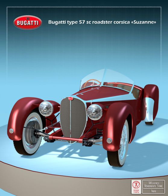 BUGATTI 57S CORSICA (OBJ FBX) - Extended Licence