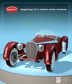 BUGATTI 57S CORSICA (OBJ FBX) - Extended Licence