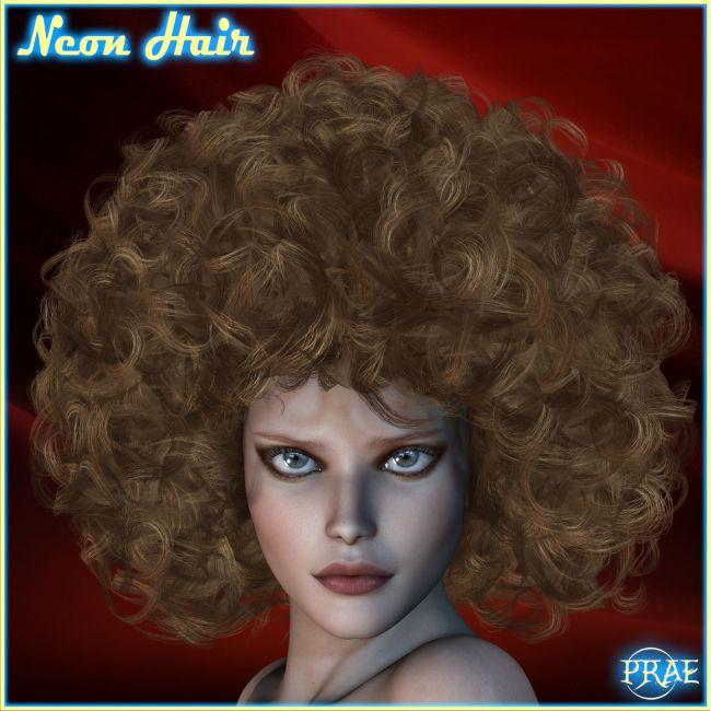 Prae-Neon Hair For V4 M4 Poser