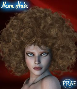Prae-Neon Hair For V4 M4 Poser