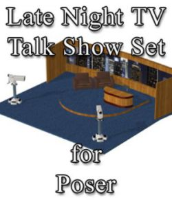 Late Night TV Show Set - for Poser
