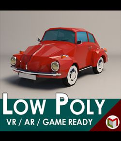 Low-Poly Cartoon City Car - Extended License