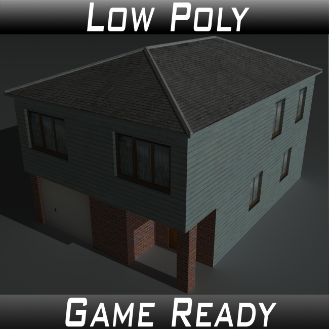 Low Poly House 4 - Extended Licence