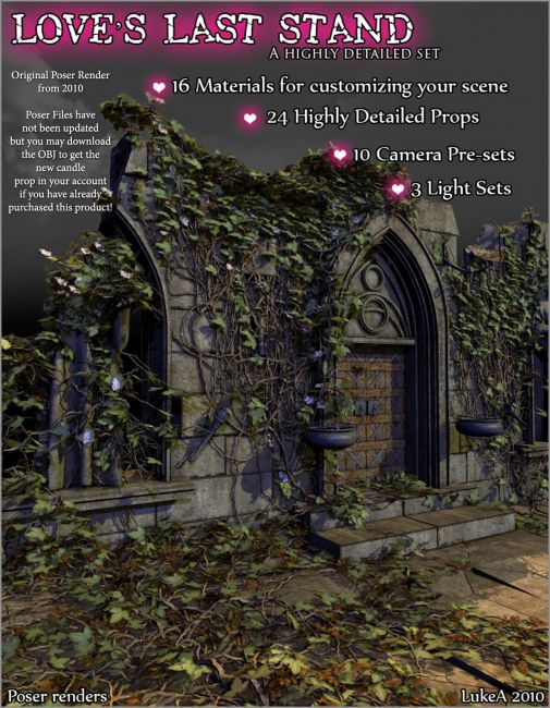 Loves Last Stand DS and Poser | Architecture for Poser and Daz Studio