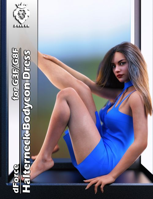 JMR dForce Halterneck Bodycon Dress for G3F and G8F