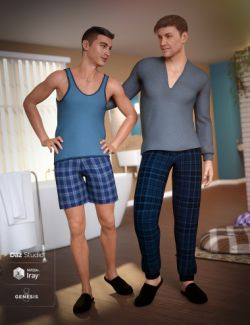 dForce Pajamas for Genesis 8 Male(s)