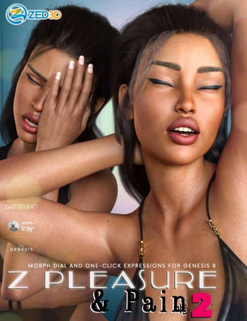 Z Pleasure and Pain 2 - Expressions for Genesis 3 and 8