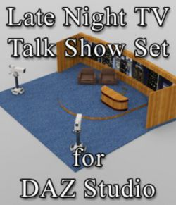 Late Night TV Show Set - for DAZ Studio
