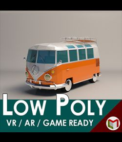 Low-Poly Cartoon Camper Van - Extended License