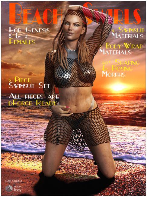dForce Beach Swirls for Genesis 8 and 3 Females