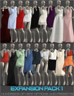 Expansion Pack 1 for dForce Multi Dress System for Genesis 8 Female(s)