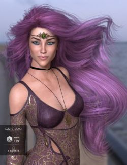 Leni Hair for Genesis 3 and 8 Female(s)