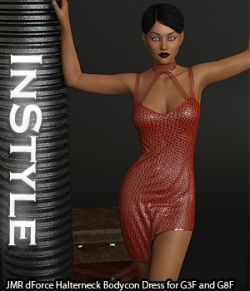 InStyle- JMR dForce Halterneck Bodycon Dress for G3F and G8F