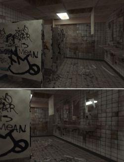Grungy High School Restroom