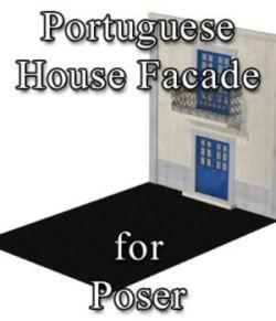 Portuguese House Facade - for Poser