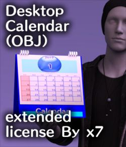 Desktop Calendar(OBJ) extended license By x7