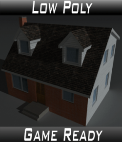 Low Poly House 6- Extended Licence