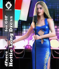 JMR dForce Hottie Long Dress for G8F