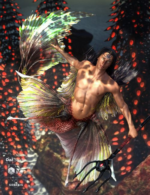 Alascanus Merman for Genesis 8 Male(s) plus Mertail and Fins