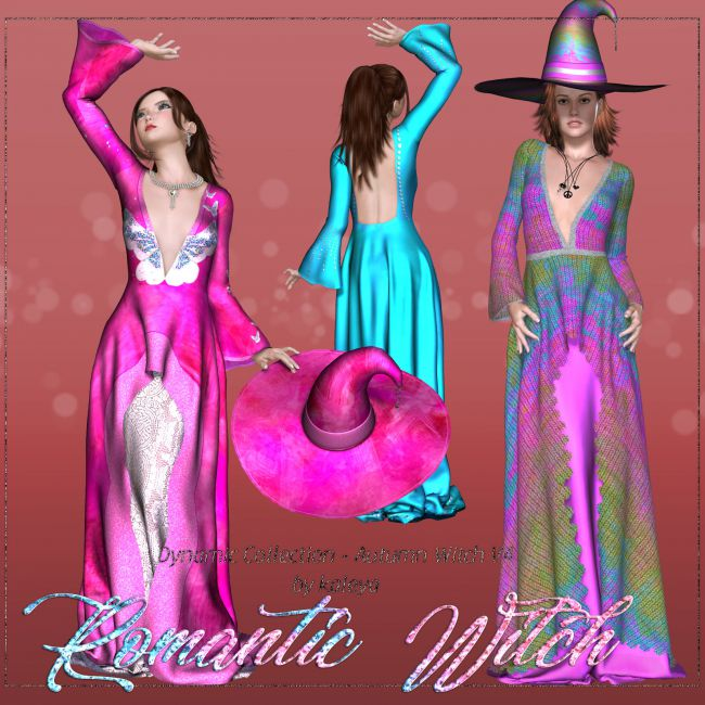DA-Romantic Witch for Autumn Witch V4  by  kaleya