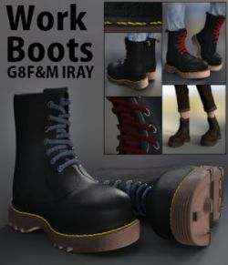 Work Boots for G8F and G8M Iray