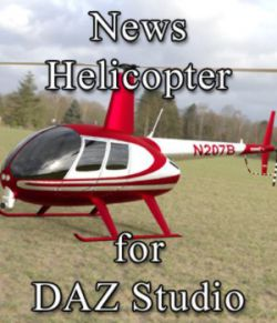 News Helicopter - for DAZ Studio