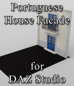 Portuguese House Facade - for DAZ Studio