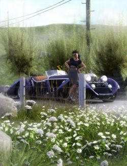 Roadside Flowering Plants for Daz Studio and Iray