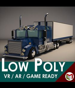 Low-Poly Cartoon Lorry Truck