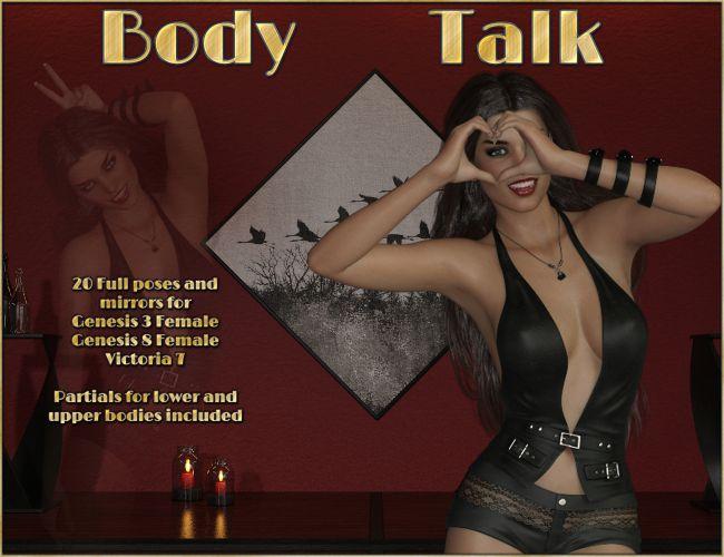 Body Talk - Poses for Genesis 3 - 8 Females