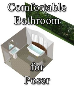 Comfortable Bathroom - for Poser
