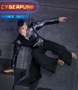 dForce CyberPunk Outfit for Genesis 8 Male